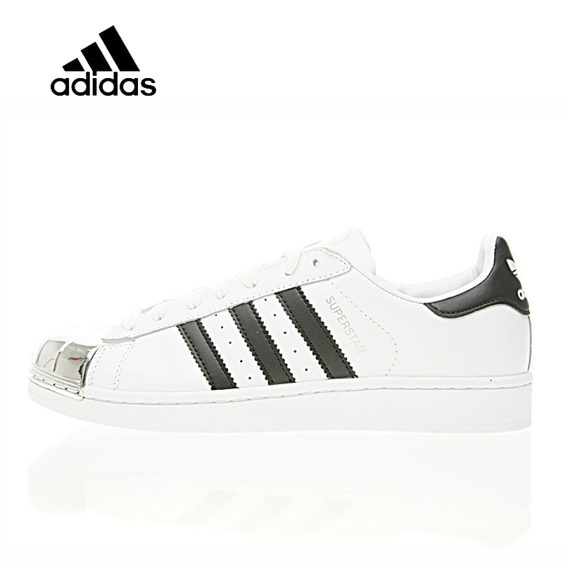 Original New Arrival Official Adidas Superstar Metal Toe Men's & Women's Skateboarding Shoes Sneakers Good Quality BB5114