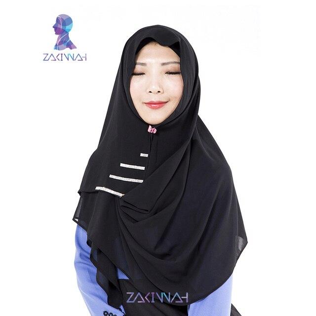 102 горячей продажи хиджаб мусульманского femme Алмазов турецкий хиджаб моды шифона исламский хиджаб новый дизайнер шарфы