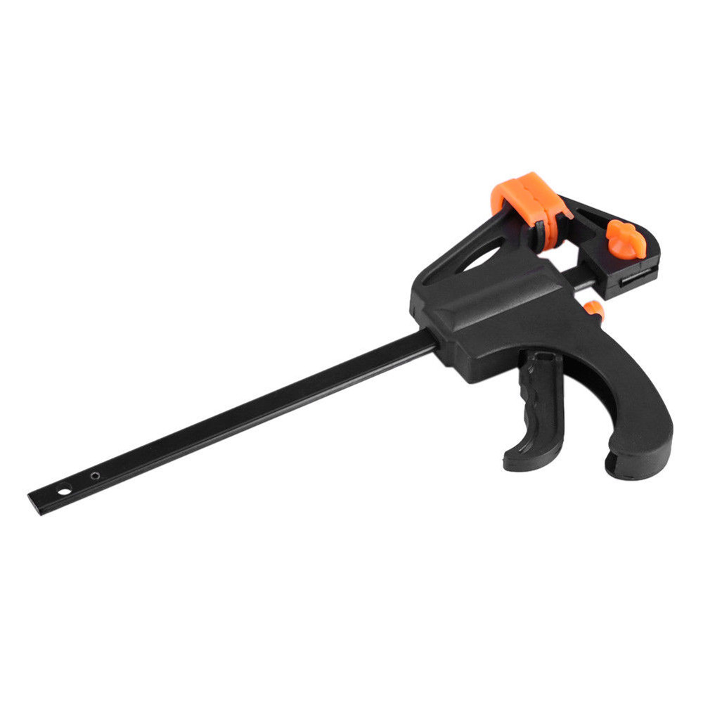 Quick Grip 4'' F Woodworking Clip Quick Grip Clamp Heavy Duty Carpenter Tool Ratchet Release Speed Squeeze DIY Hand ToolW5#3