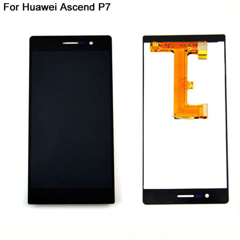 LCD Display For Huawei Ascend P7 LCD Screen With Touch Digitizer Screen Replacement Cell Phone Repair Parts Original Black Color