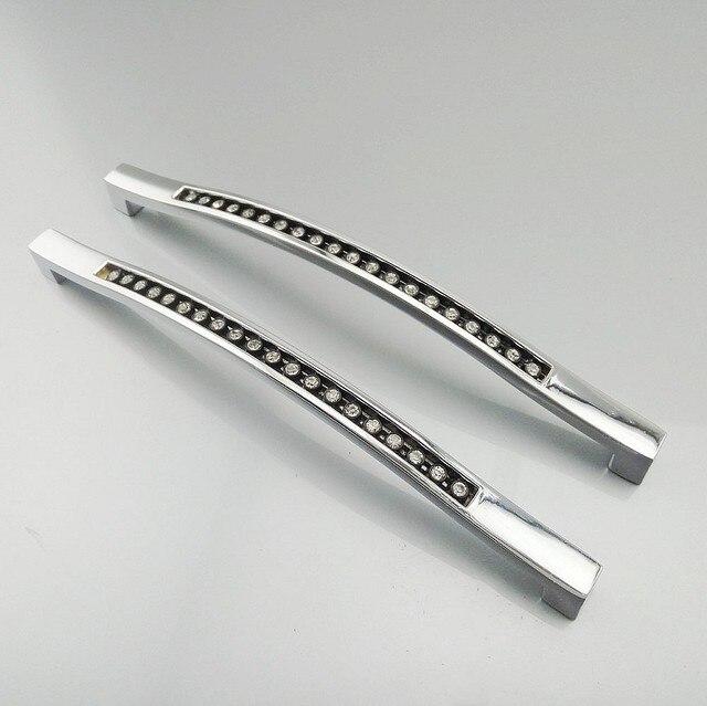 160mm Moderne Kristall Diamant Möbel Griffe Hardware Knöpfe ...