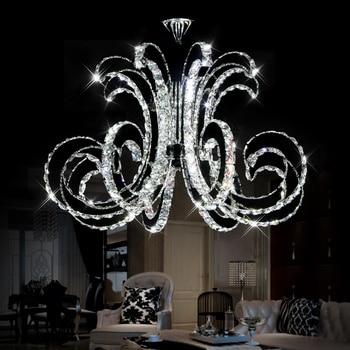 Moderne LED Crystal Plafondlamp Luxe Art Glans LED Chip Lamp Armatuur voor Hotel Restaurant Sittingroom Crystal Droplight