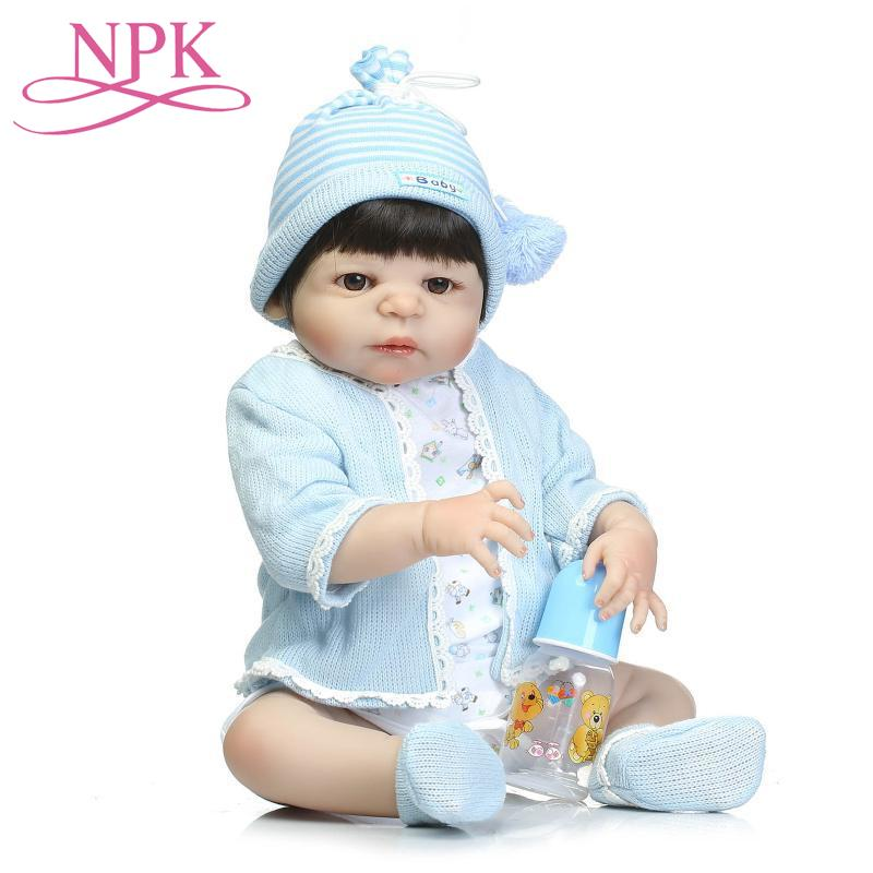 NPK 56cm Silicone Vinyl Reborn Baby Doll Children Playmate Doll Soft Real Touch Toys For Gift On Birthday And Xmas jooyooNPK 56cm Silicone Vinyl Reborn Baby Doll Children Playmate Doll Soft Real Touch Toys For Gift On Birthday And Xmas jooyoo