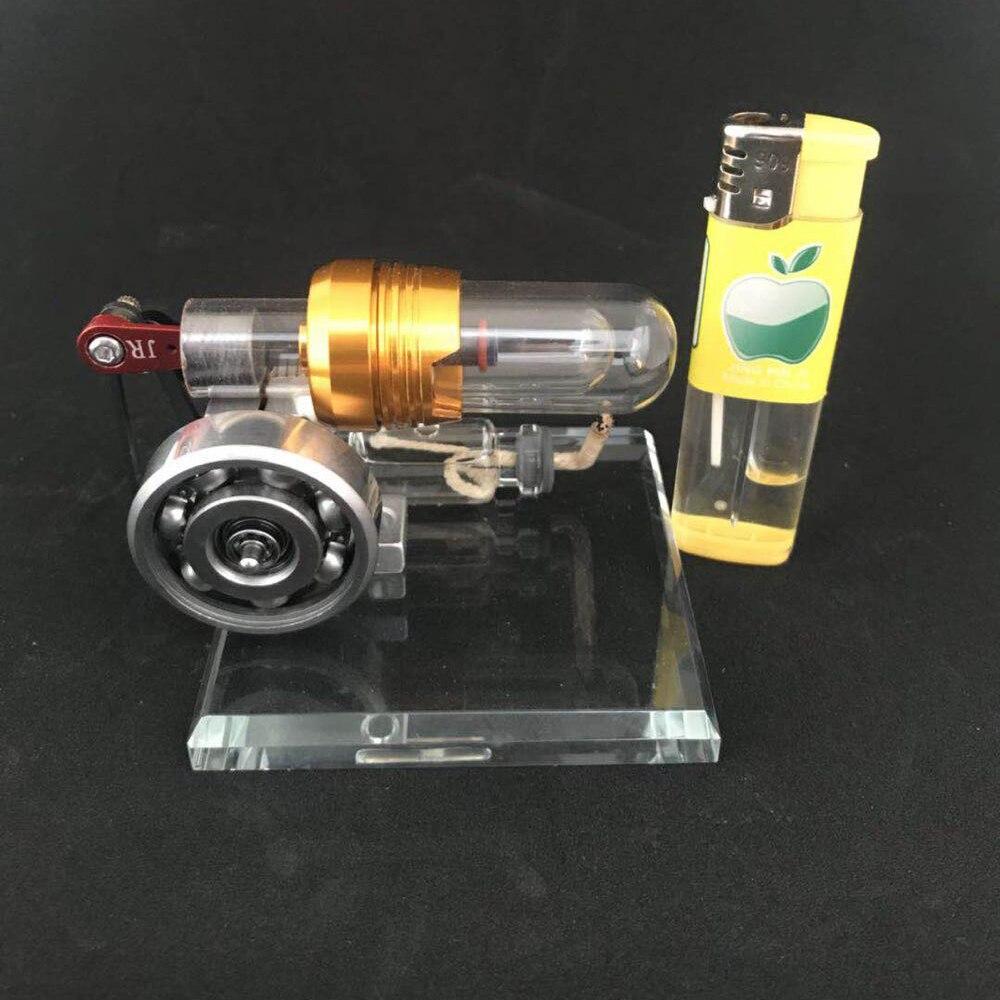 Stirling moteur rotatif modèle générateur de moteur à vapeur moteur physique jouets cadeaux d'anniversaire moteur à Combustion externe