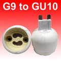 10pcs/lot free shipping G9 to GU10 Adapter  GU10 to G9 Socket  GU10 Base lamp holder converter Led lighting accessories