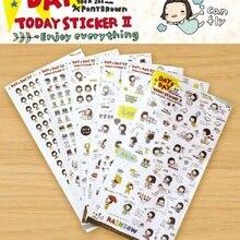 6pcs/set Cute Girl Cartoon Diary Sticker Hot Transparent Tablet Decals Cell Phone Decorative Sticker Child DIY Toy Oc19