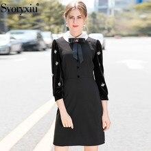 aksamitne sukienka czarna startowej