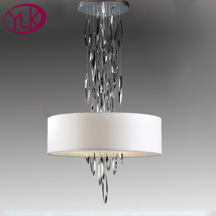 Creative Design Modern Chandelier For Dinging Room White Lampshade Hanging Lights Living Lighting Fixture Height