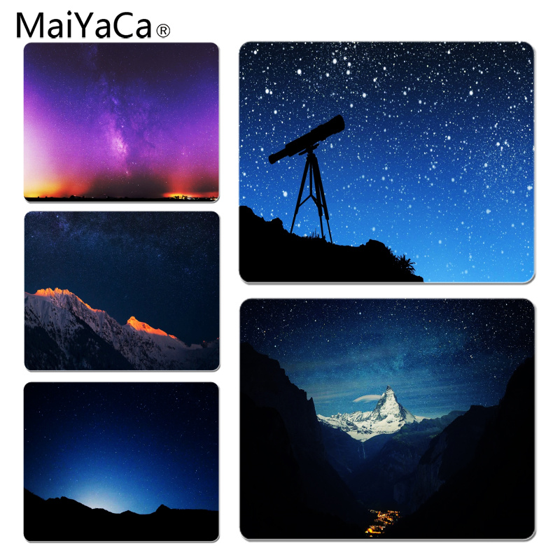 MaiYaCa Night Sky Large Mouse pad PC Computer mat Size for 18x22x0.2cm Gaming Mousepads