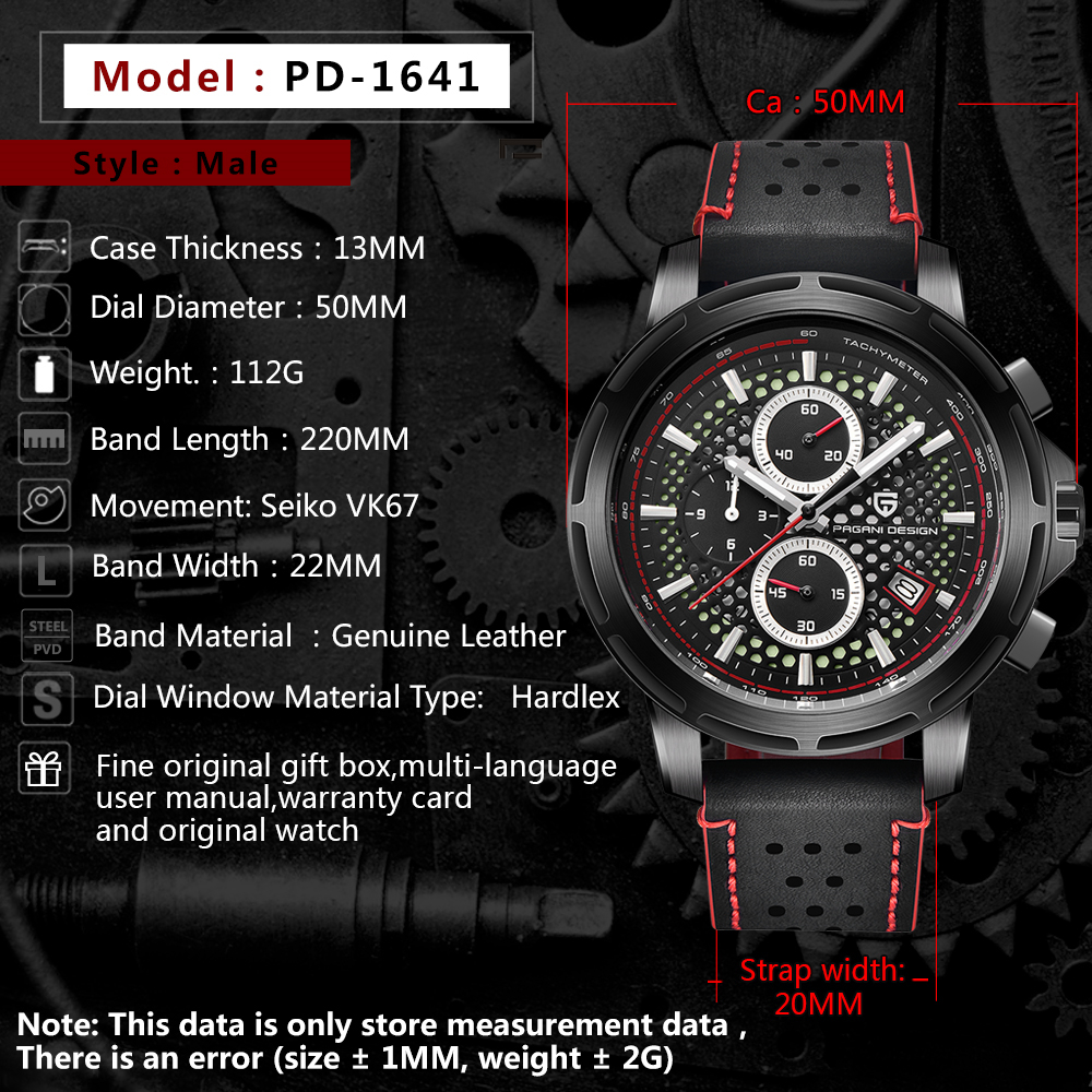 Buy Pagani Design Fashion Sport Chronograph Watch Quartz Clock Final Schematic 400 Top Brand Luxury Waterproof Leather Strap Men Wristwatches Reloj Homb From