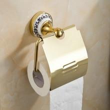 Золотой нержавеющей стали бумаги настенный аксессуары для ванной комнаты металлоконструкции бумагодержатель бумажная коробка