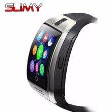Получить скидку Слизняк Смарт-часы Q18 наручные часы для Для женщин Для мужчин Bluetooth электроники Поддержка sim-карты спортивные Smartwatch Камера для IPhone, Android