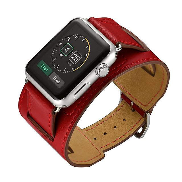 c2c8b9e0834 CRESTED Leather cuff strap For apple watch band 42mm 38mm hermes iwatch  series 3 2 1