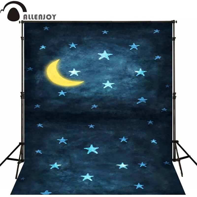 Allenjoy фоновые луна и звезды свет ночного новорожденный фотографии фото для студии сте ...