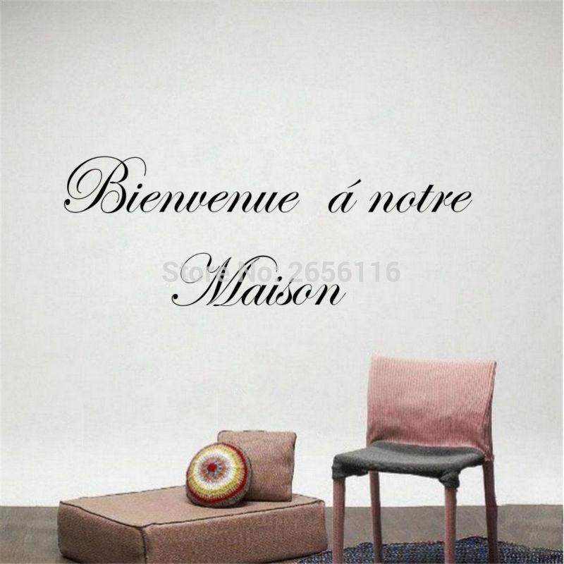 Francouzské uvítací nabídky Samolepky na zeď Bienvenue Vinylové samolepky na zeď pro domácí dekor