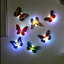 Glowing Butterfly Night Light Colorful Paste Led Night Light Creative Decoration Light Butterfly Light Use Home Holiday Party