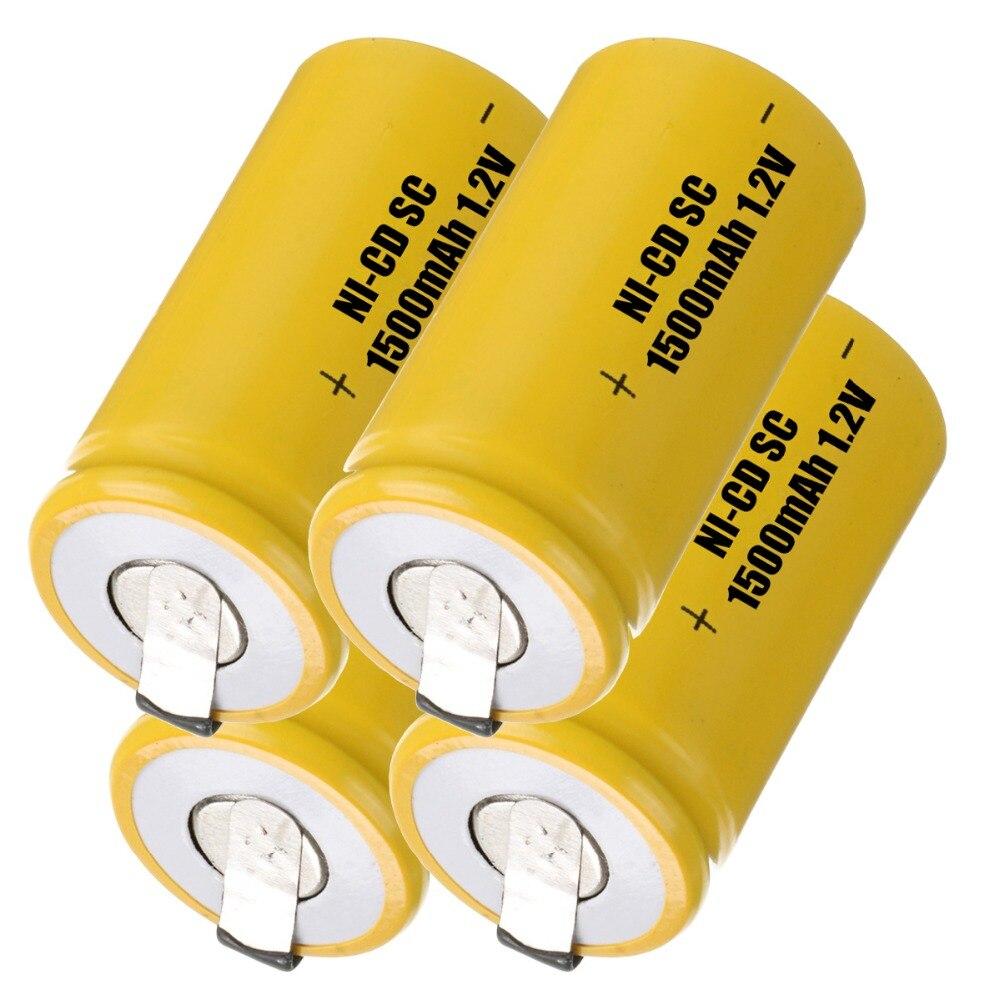 Capacidad verdadera! 4 unids SC SC batería recargable ni-cd de la batería de ree
