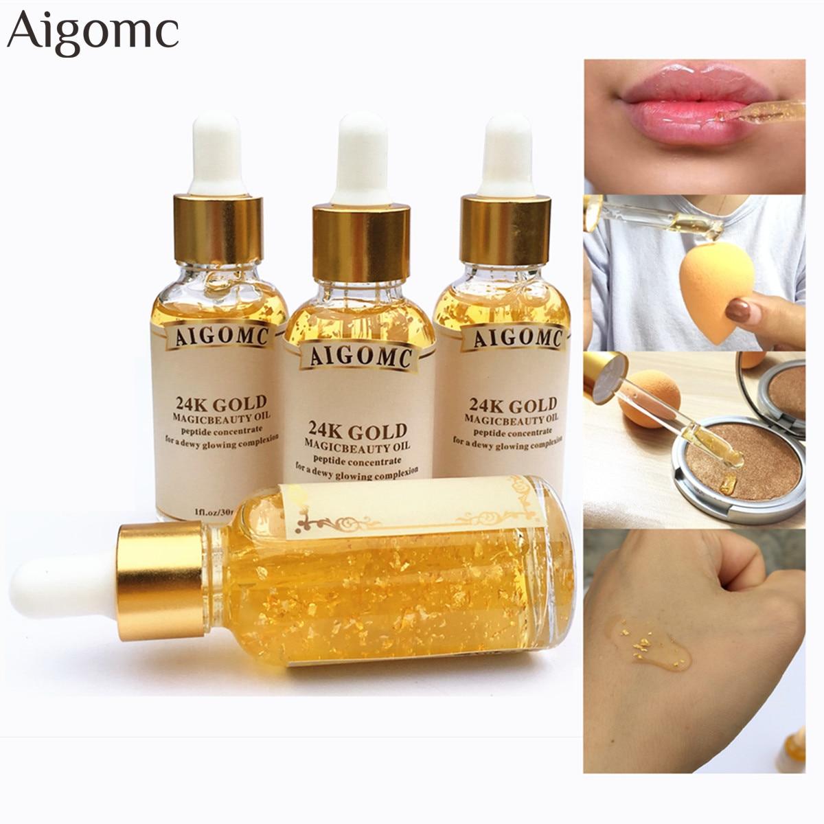 Primer Makeup Base Liquid Farsali 24k Rose Gold Infused Elixir Skin Face Care Essential Oil Anti-Aging Makeup Base