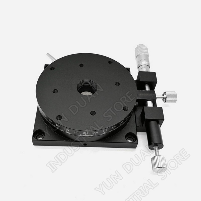 R Axis 80MM 3.2 Manual 360 degree Heavy Load Rotary sliding table Micrometer Precision Adjust Angle Platform Optical RSP80-LR Axis 80MM 3.2 Manual 360 degree Heavy Load Rotary sliding table Micrometer Precision Adjust Angle Platform Optical RSP80-L