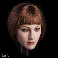 1/6 Scale Female Head Sculpt Lin With Blue Eyes 3 Hair Styles for 12 inches Suntan PHICEN TBLeague Action Figure Doll Body 1 6 beautiful girl blink female head sculpt toys phicen female body part for 12 action figure doll toys eyes movable only head