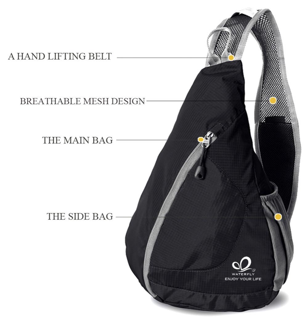 Сән One Shoulder Backpack Ашық Үшбұрыш Тренді - Спорттық сөмкелер - фото 3