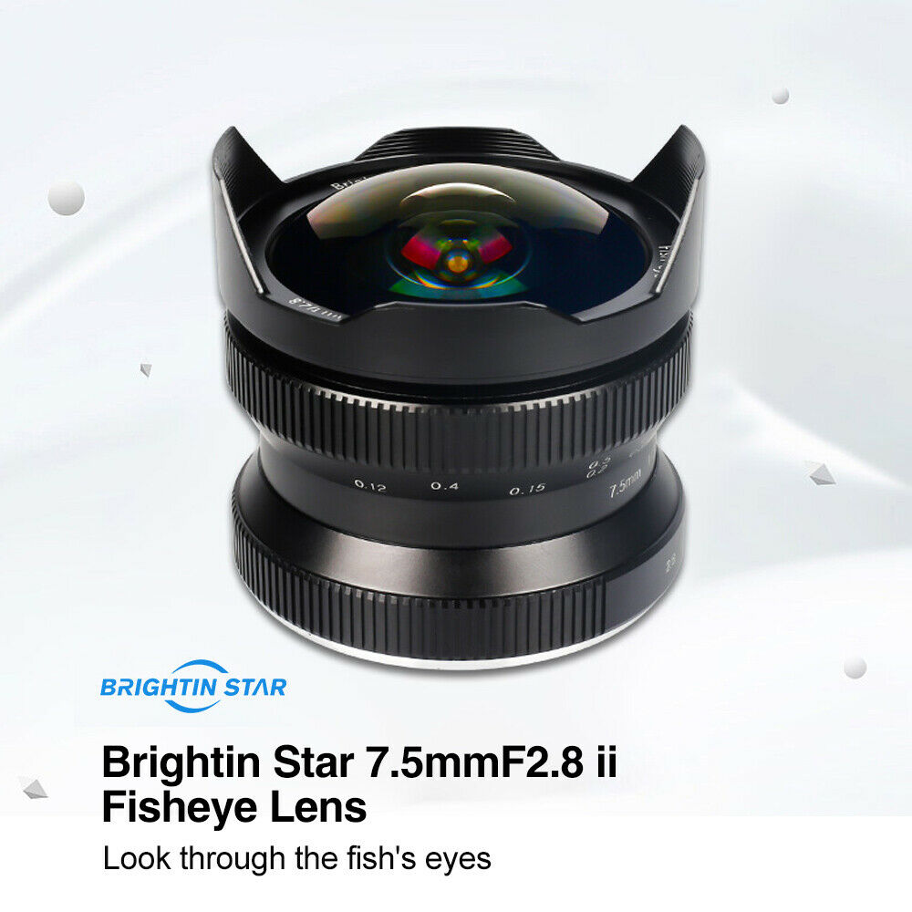 7 5mm F 2 8 Wide Angle Camera Fisheye Lens 180 Degree for Sony E mount