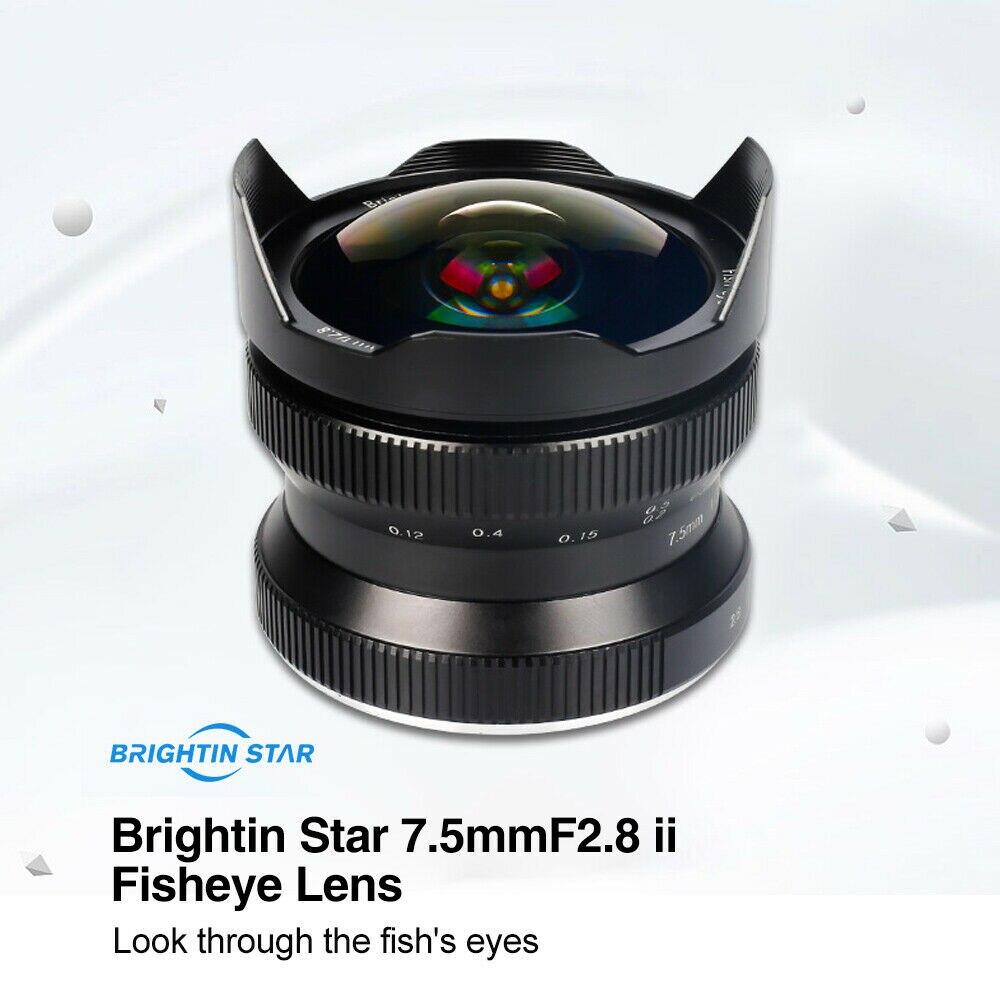7 5mm F 2 8 Wide Angle Camera Fisheye Lens 180 Degree for Sony E mount