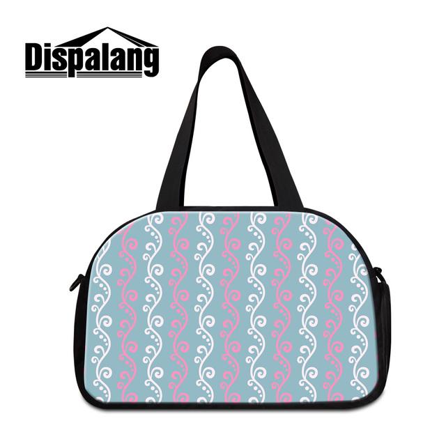 Dispalang roupas padrão de flor das mulheres duffle sacos de viagem bagagem de moda bagagem organizadores embalagem com saco sapato mochila fim de semana saco