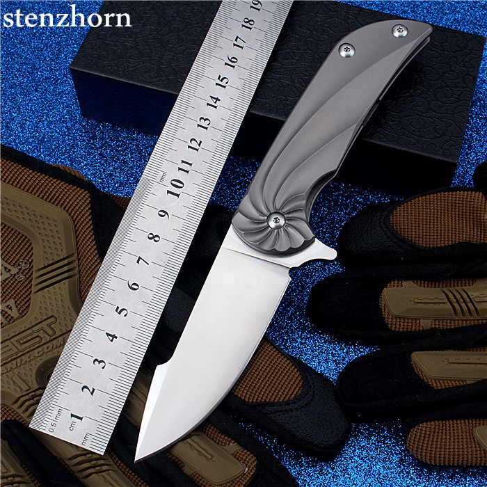 Stenzhorn 2017 Limited Bearing Knife Self-defense Outdoor Folding with High Hardness Survival Mountain Fruit Small Tool Rotation stenzhorn 2017 new real authentic self defense wilderness survival high hardness knife with wild fruit folding outdoor the devil