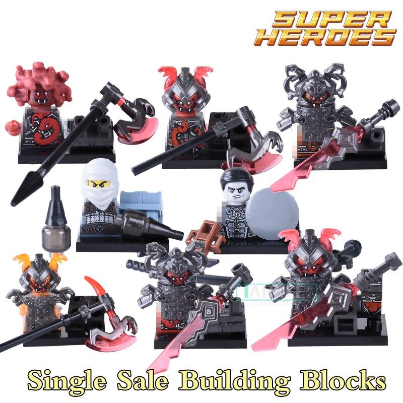 Building Blocks PG8055 Vermin The Wei Snake Bronk Ninja Figures Super Heroes Star Wars Action Bricks Kids DIY Toys Hobbies
