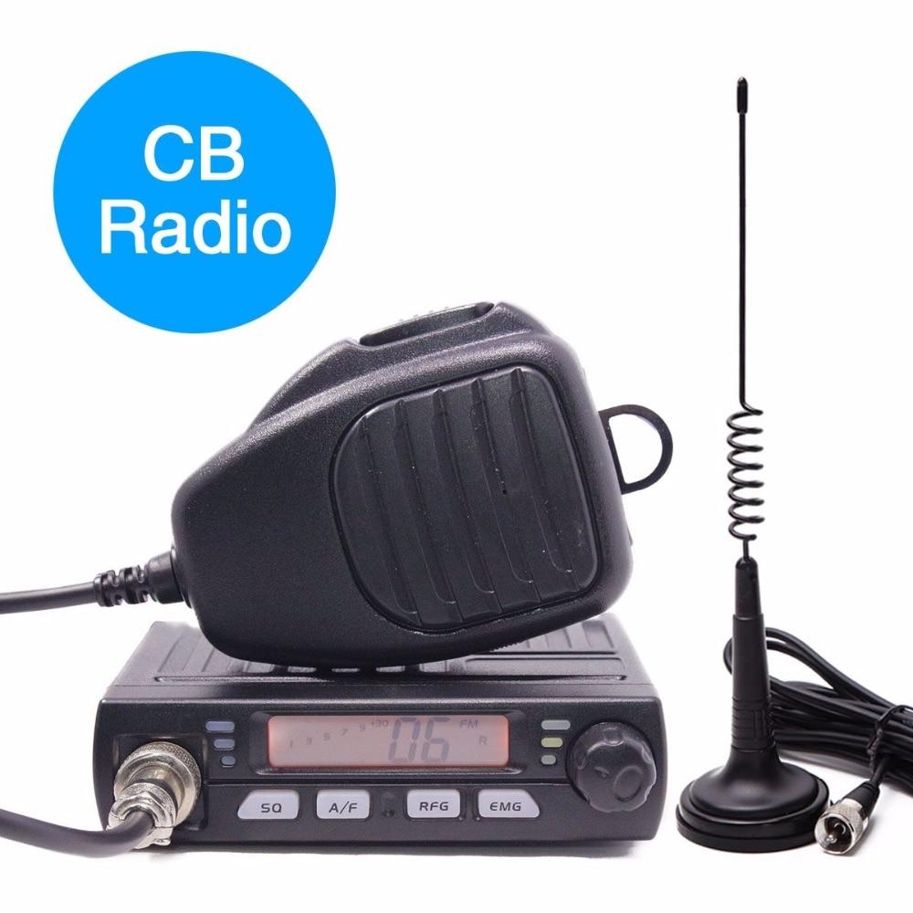 ABBREE AR-925 CB Car Mobile Radio 27MHz 25.615-30.105MHz AM/FM 13.2V 8 Watts LCD Shortware Citizen Band Multi-Norms Transceiver