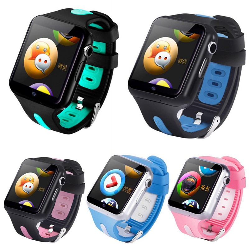 Children Smart Watch Waterproof 3G Wifi Smart Watch GPS Safe Sport Fitness Tracker Downloadable APP Multi-Language Optional image