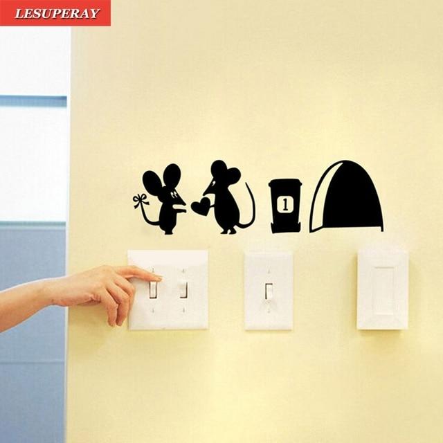 Mouse Hole Vinyl Mural Wall Art Sticker Decal Cartoon Nursery Room ...