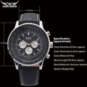 Image 5 - JARAGAR relojes clásicos para hombres, mecánicos de lujo, con calendario automático de 6 pines, esfera de banda grande, reloj de pulsera, reloj para hombre, relojes suizos