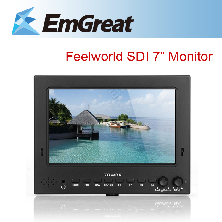 Feelworld 7'' ST-702HSD Pro-Broadcast HD HDMI SDI High Resolution Field Monitor Peaking Filter 5D II Camera Mode for BMCC new aputure vs 5 7 inch 1920 1200 hd sdi hdmi pro camera field monitor with rgb waveform vectorscope histogram zebra false color