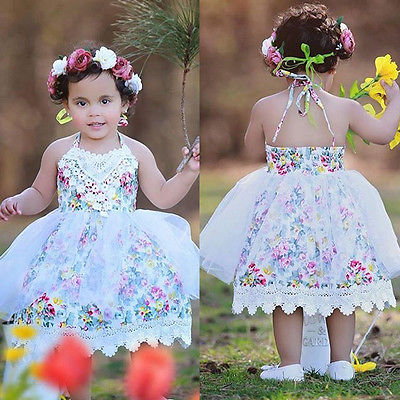 Toddler Enfant Children Girl Summer Clothing Cute Kids Baby Girls Lace Floral Dress Tulle Party Dresses Gown Formal Sundress girls dresses 2017 summer new lace speaker sleeves children dress cute embroidered girl dress floral child ball gown party dress
