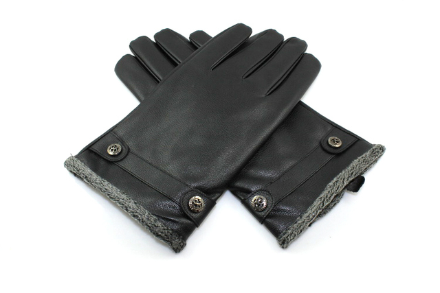 Good quality sheep skin men's winter warm gloves Free shipping