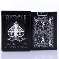 1pcs Ellusionist Bicycle Black Ghost Deck Magic Cards Playing Card Poker Close Up Stage Magic Tricks