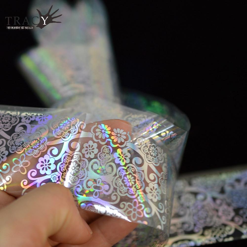 100*4 cm Transparent DIY Nagel Folie Übertragen Nagelkunstaufkleber ...