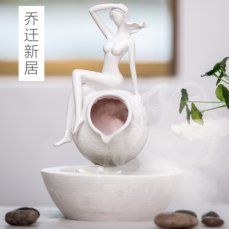 decoration Home Furnishing water fountain atomization humidifier decorations inside the living room decoration