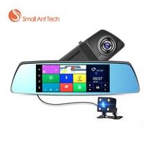 Dash cámara del coche DVR de doble cámara Dash Cam retrovisor Android GPS de Navegación 7 inchTouch Pantalla Espejo de Doble Lente de la Cámara Full HD 16 GB