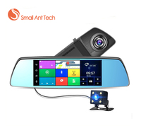 Car DVR Dash Cam Android GPS Navigation Touch Screen Mirror Dual Lens Camera Full HD 1080P