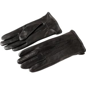 Image 2 - Gut verkaufen männer GIoves, Echtes Leder Ieather männer GIoves herren schwarz GIoves, gefüttert Warm Leder männer GIoves, freies verschiffen