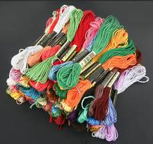 50/100/150/200/250/300/447pcs Different dmc Colors No Repeated Colors Embroidery Floss Cross Stitch Floss Yarn Thread(China)
