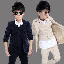 Big Boys Blazer Suits for Weddings Children Jacket+Vest+Pant