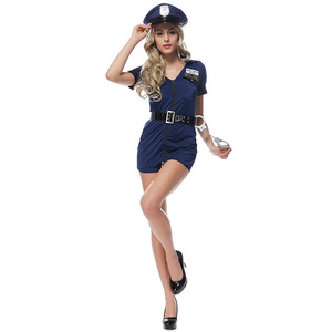 Image 4 - زي الشرطة المثير من VASHEJIANG للنساء البالغات ملابس لعب دور الشرطة ملابس نسائية شرطية زي تنكري مع قبعة