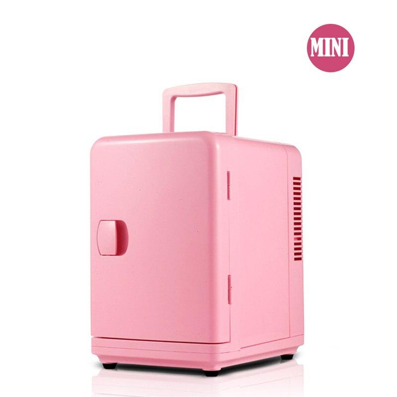 6L Mini Car Fridge Multi function 12V Travel Refrigerator Cooler Warmer Portable Electric Icebox Cooler Box Freezer