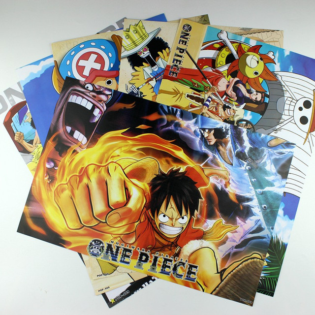 Full color Naruto/Anime Home Wall Posters (8 pcs/set)
