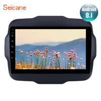 Seicane Car Android 8.1 GPS Navigation Autostereo Radio Player For 2016 Jeep Renegade WiFi 2DIN Support DVR SWC Rear Camera