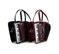 accordion Smiley Bag Women Shoulder Bag Italy Handbag Organist guitar style bags Ladies bag Brand Designer music totes gifts